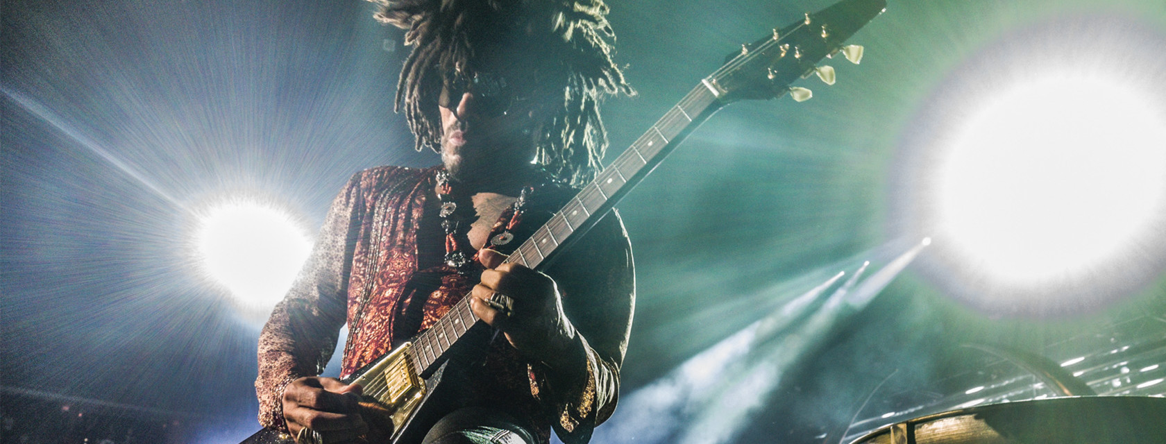 Lenny Kravitz in concert in Trois-Rivieres