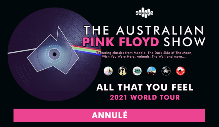 The Australian Pink Floyd Show cancels its North American tour: September 19 show at Cogeco Amphitheater canceled